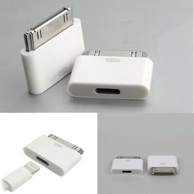 Lightning 8Pin Female to 30 Pin Male Adapter for iPhone 4/4S iPad 3 iPod Touch 4