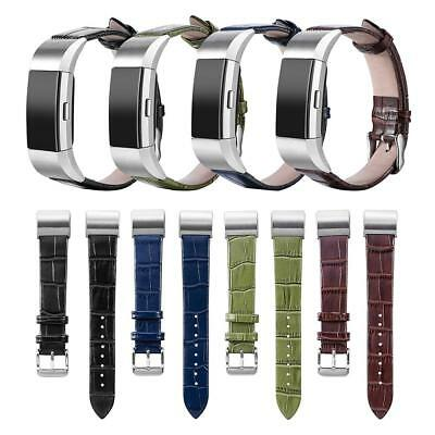 Leather Watch Band Wrist Strap Replacement for Fitbit Charge 2 Smart Bracelet