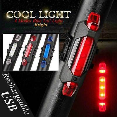 5 LED USB Rechargeable Bike Tail Light Bicycle Safety Cycling Warning Rear Lamp*
