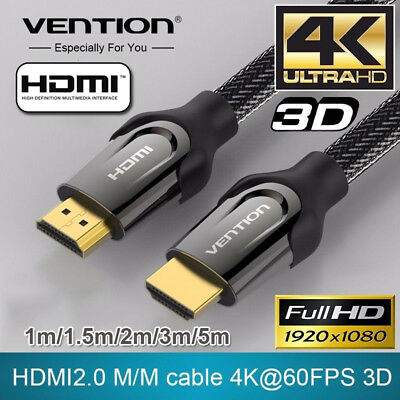Vention HDMI to HDMI Cable HDMI 2.0 4K 3D 60FPS Cable Wire Cord for HD TV Lot