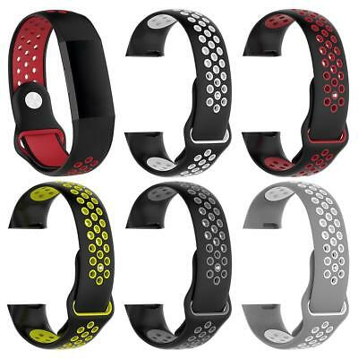 Soft Silicone Bracelet Wrist Band Strap Replacement for Fitbit Charge 3 Watch