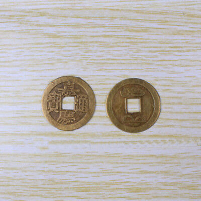 5pcs Chinese Ancient Vintage Coin Feng Shui Collection Bronze Diameter 25mm Gift