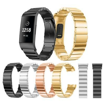 Alloy Watch Wrist Band Strap Replacement for Fitbit Charge 3 Smart Bracelet