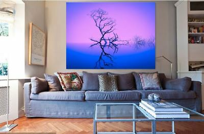 nature-inspiration-trees-blue-WALL ARTS high quality Canvas home decor