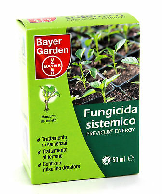 FUNGICIDA SISTEMICO PREVICUR ENERGY BAYER 50ml PERONOSPORA MARCIUMI DEL COLLETTO