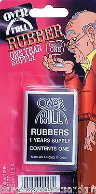 Over The Hill Condom Novelty Old Mens Funny Joke Dads Fathers Prank Present