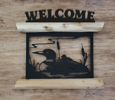 Hanging Loons Welcome Sign