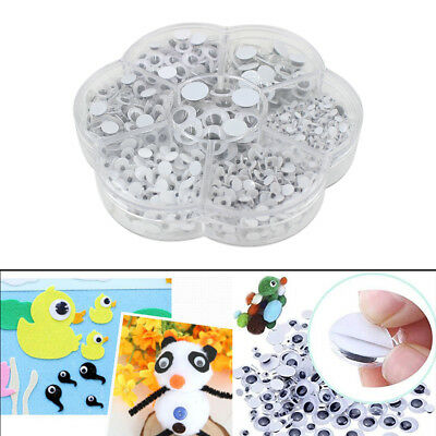 700pcs Self-Adhesive Moving Eyes Toys Decorations Kids Crafts Googly Eyes