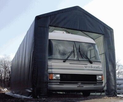 Lorry Shelter Coach Steel Framed Storage Building Shed Portable Workshop Shelter