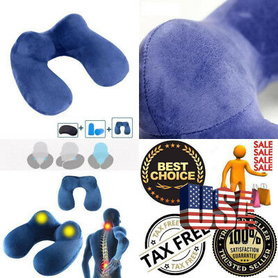 Travel Neck Pillow Memory Foam Comfortable U Shape Form Sleep Soft Patch Pillows