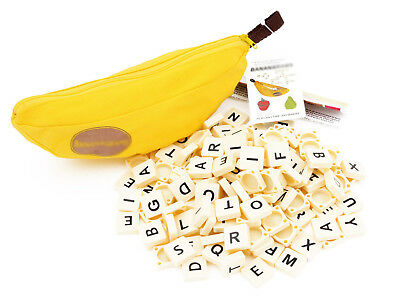 Banana Spelling Word Game Travel Board Puzzle Tiles Building Educational Toy