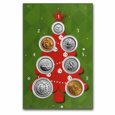 Christmas Greetings 7-Coin Collection UNC - SKU#157359