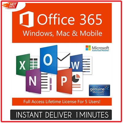 Top Best Microsoft Office 365 Pro+ 2016 Life/5 devices/1tb onedrive multilingual