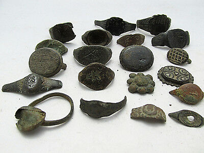 Lot of 20 ROMAN,Byzantine medieval ANCIENT BRONZE RINGS