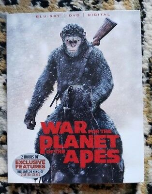 War for the Planet of the Apes (Blu-ray/DVD, 2017, 2-Disc Set,No Digital Copy)