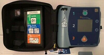 Philips Agilent Heartstream FR2 DEFIB SAD GOOD Battery, Pads, case Pass Check