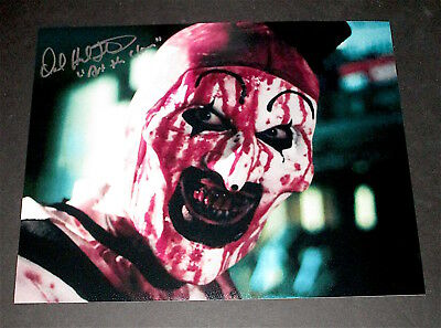 "Terrifier  / David Howard Thornton  / ""art The Clown"" /  Great Signed Photo #2"