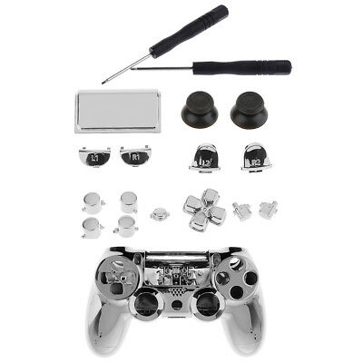 Full Shell Kit for Sony PS4 Pro Controller Case Cover Button Set Tool Silver