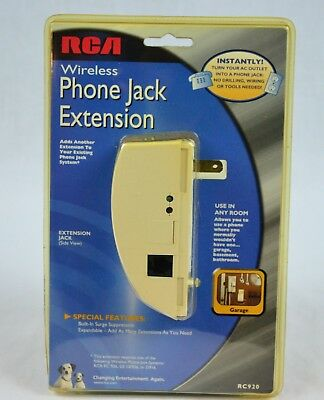 RCA Wireless Phone Jack Extension, New