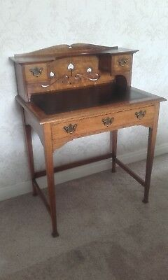 Arts and Crafts Oak Ladies Desk / Writing Table - Antique.