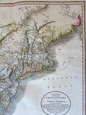 New England Great Lakes Western Territory 1806 John Cary lovely large old map
