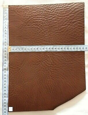 Vintage Italian Leather Premium Veg Tan Offcuts 3.5Mm Thick Brown - Tan - Black