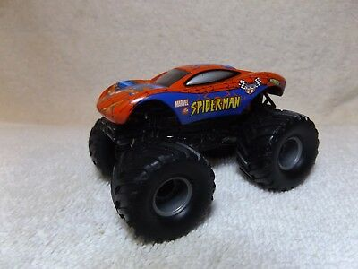 "Vintage Diecast--Marvel's Spiderman 4X4 Car--Hot Wheels--3 1/4"" Long--Very Nice"