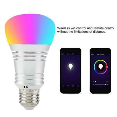 15W E27 Smart LED Bulb RGB Light For Google WiFi Remote Control Practical Kit