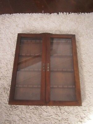 Vintage 4 Shelf Collectable Spoon Cupboard Holding 48 Spoons