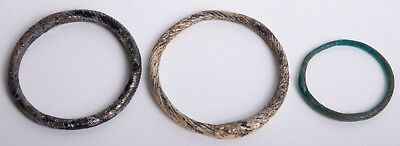 Lot of 3 Roman Glass Bracelets c.2nd-3rd century AD.