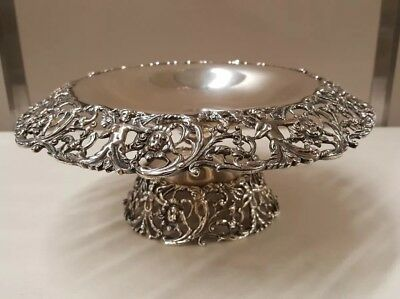Durham Silver Co. Sterling Silver Dish Cherubs Lions Openwork Compote Tazza