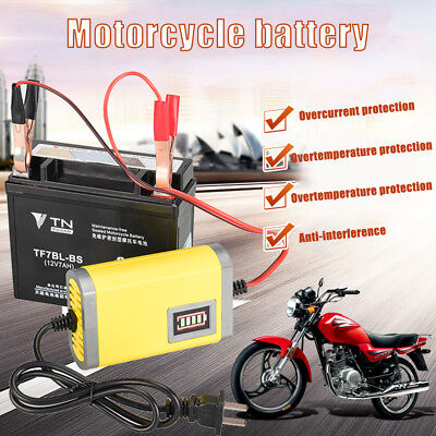 Car Motorcycle Battery Charger 12V 2A Full Automatic 3 Stages Lead Acid AGM Y9I2