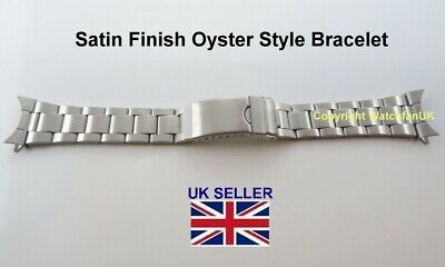 Steel Oyster Bracelet With Curved Satin RLX 18mm 20mm 22mm