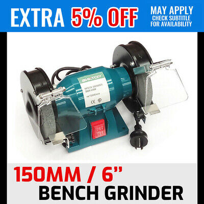 """6"""" 150mm Bench Grinder Grinding WIth Polishing Stone Sharpener Industrial Tool"""