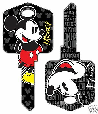 Mickey Mouse Disney Collectable Uncut House Key Blank ( Back In Stock)