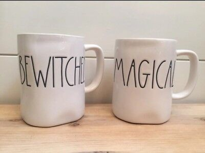 New!! Rae Dunn Set of 2 Halloween Mugs Magical Bewitched