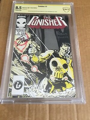 THE PUNISHER #2 CBCS 8.5 Signed By Klaus Janson Carl Potts Jim Shooter (NOT CGC)
