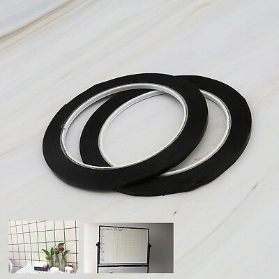 2pcs 3mm Self Adhesive Whiteboard Grid Gridding Black Stripe Making Tapes