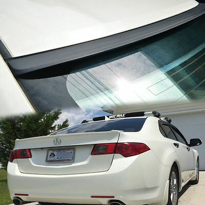 4DR Sedan Saloon V6 2009-2012 Unpainted FOR Acura TSX CU2 Rear Roof Lip Spoiler