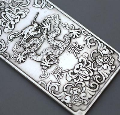 China tibet Silver 麒麟送子 statue Lucky Amulet token statue Collection 5*10cm