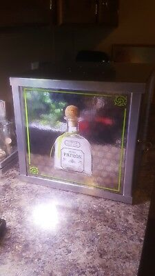 Patron Tequila  Display Case With Lock And Key Man cave or store item bar box