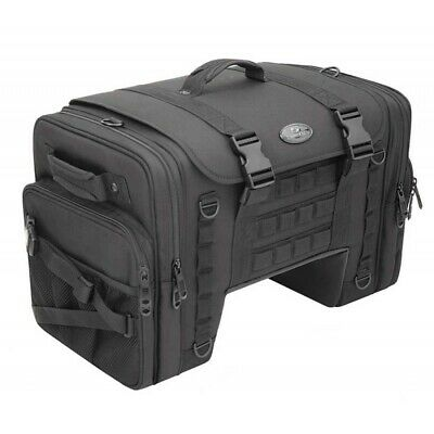 Saddlemen TS3200DE Tactical Deluxe Cruiser Tail Bag Saddlestow Harley Metric