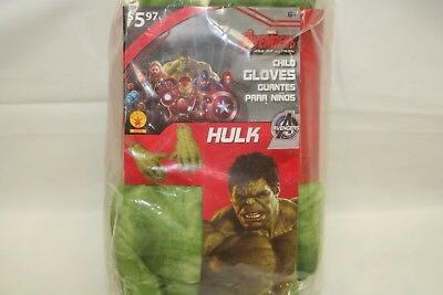 Marvel Avengers Incredible Hulk Age of Ultron Child Gloves Costume Accessories