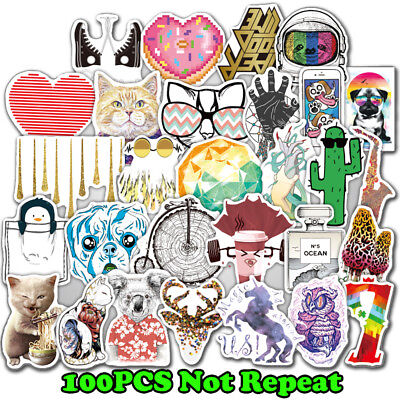 100 Decals Dope Sticker Skateboard Stickers Vinyl Laptop Luggage Lot Mix Random
