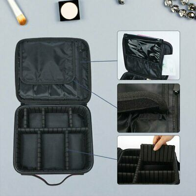 Portable Travel Beauty Cosmetic Makeup Vanity Train Case Nail Tech Box Carry Bag