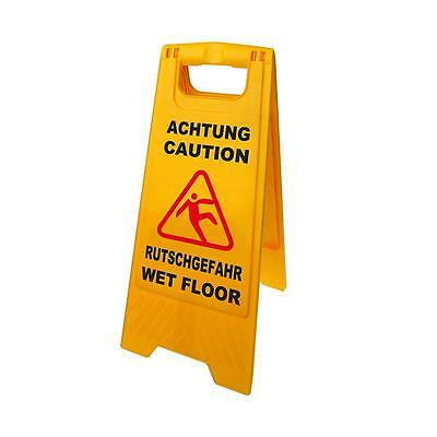 4 Stk.warnschild Caution Rutschgefahr Warning Warnaufsteller Yellow Foldable