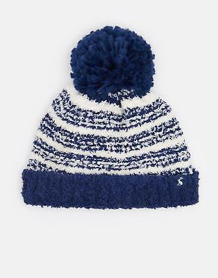 Joules Baby Pomme Chenille Bobble Hat in NAVY Size 6min12m