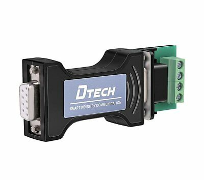 DTECH RS232 to RS485 Converter Adapter for Industrial Haul Serial Communication