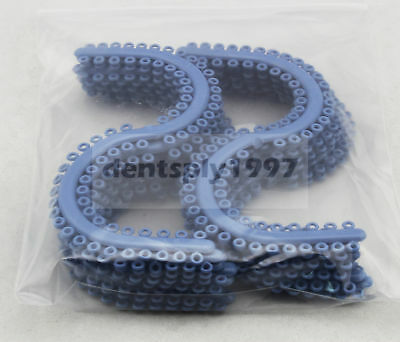 1050pcs/pk Dental Orthodontic Separate Tie molded Elastic separators S Type Blue