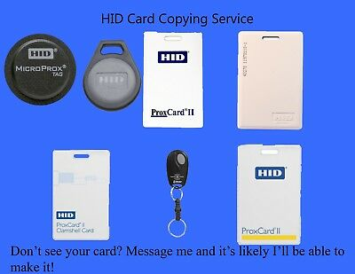 RFID COPY HID Linear Building Key Tag Fob Prox Access Card Make Duplicate Clone